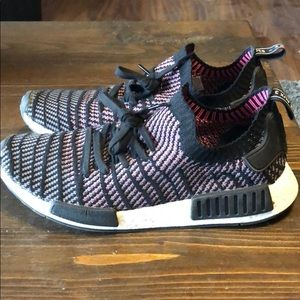 Adidas nmd pink black and grey striped 11.5
